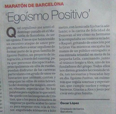 Carta del lector Oscar Lopez El Periódico